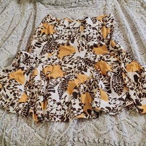 VTG Elliott Lauren Skirt Leopard Animal Print